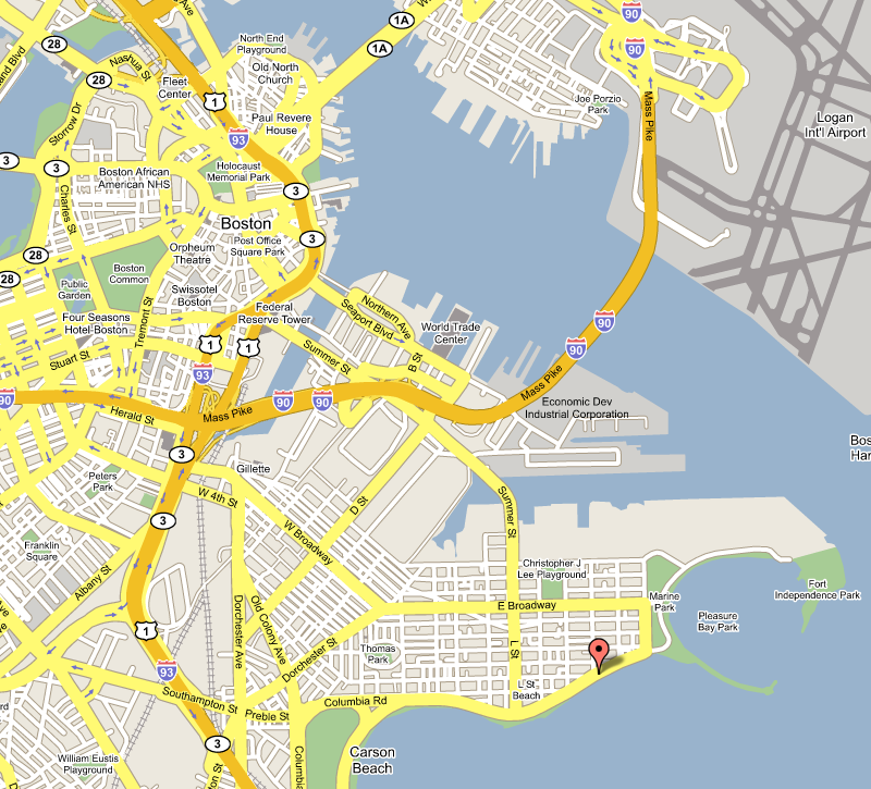 Trends Celebrity 2011 map of boston ma